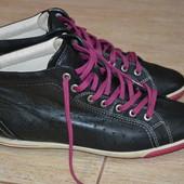 Ecco Туфли кроссовки 41р . Оригинал. ботинки кожаные. слипоны