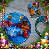 Детский Набор Посуды  Робокар Полли.