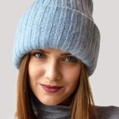 Шикарная мохеровая шапка с двойным подворотом Odyssey