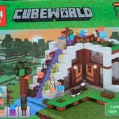 Конструктор Lepin Minecraft 18028 База на водопаде ,568 дет.