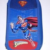 Большой двойной детский пенал для мальчика Superman
