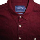 Мужская рубашка безрукавка бардовая сочная мягкая Topman S