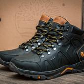 Кроссовки кожаные зимние Timberland Nubuck Black