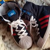 Высокие утепленные кеды, кроссовки,ботинки Adidas Superstar 24 см.