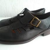 Кожаные летние туфли Leonardo 43р. Италия. Ручная работа