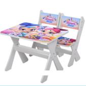 """Столик и два стульчика деревянные """"Shimmer and Shine"""" М 2100-04"""