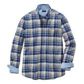 Хлопковая рубашка в клетку от Tchibo, Германия — must have для повседневного мужского гардероба