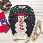 Новогодний мужской свитер рр L