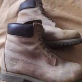 Кожаные фирменные ботинки Timberland р.42-27 см.