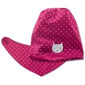 Хлопковый комплект Tchibo, Германия - шапуля и шарфик-манишка - двухсторонняя моделька - деми
