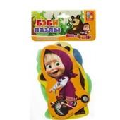 Мягкие пазлы 4 в наборе Маша и медведь от  Vladi Toys беби - пазлы