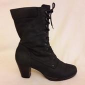 Кожаные ботинки на овчине фирмы Tamaris (Германия) р. 41 стелька 26,5см