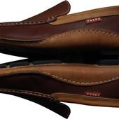 Мужские мокасины туфли кожаные коричневые комфортные Prada р45 ст 29.7