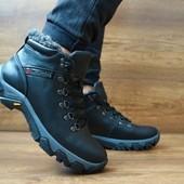 Зимние ботинки Сolumbia black, кожа