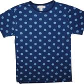 Мужская рубашка синяя в узорчик в горошек Logg L