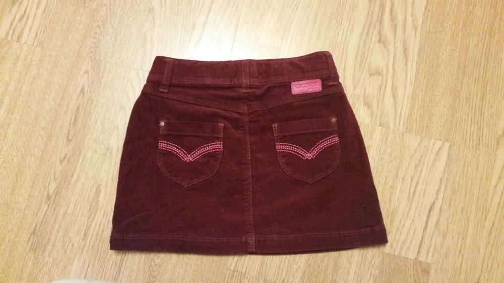 Фирменная вельветовая юбка на 3-5лет фото №1