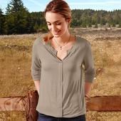 Женственная однотонная джерси блуза Tchibo, Германия