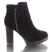 Женские ботинки на каблуке! в наличии! новые!  39 40 р!