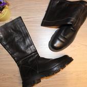 39 25см N.O.D. Кожаные сапоги на грубой платформе осень-весна