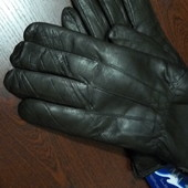 Мужские перчатки, натур. кожа, на овчине, зима