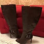 Високі чоботи із натуральної шкіри,від Minelli,розмір 40,стелька 26,5