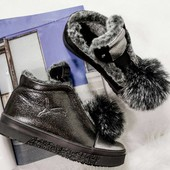 Ботинки зимние Puma, натур. кожа на меху, р. 36-40, код kivk-534