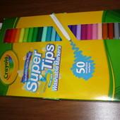 Crayola маркеры 50 шт. Оригинал, смывающиеся фломастеры