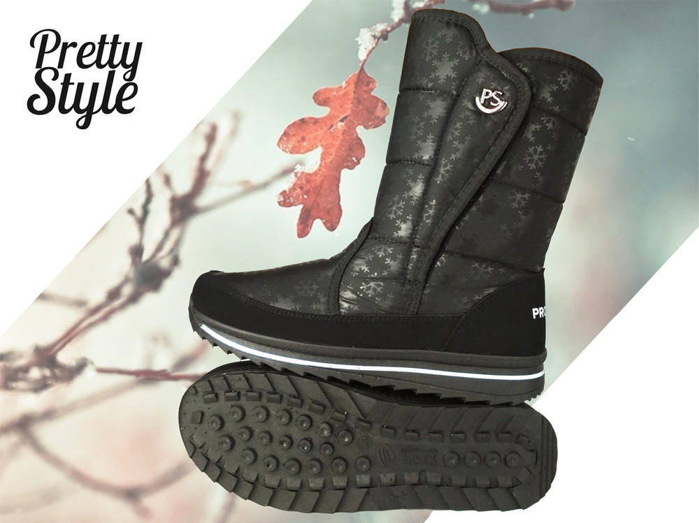 Дутики женские зимние ботиночки pretty style фото №1