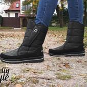 Дутики женские зимние ботиночки Pretty Style