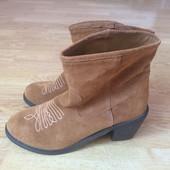 Новые замшевые ботинки Skechers 39 размера