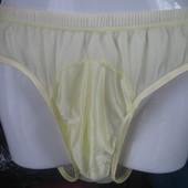 Плавки чоловічі  жовті прозорі ,розмір XL