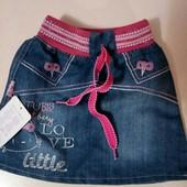 Легкая джинсовая юбка