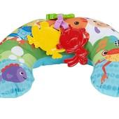 Fisher Price Музыкальная подушка для игры на животике comfort play wedge rainforest friends CDR52