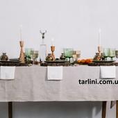 Льняная скатерть на стол