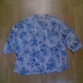 Фирменная легкая  блузка рубашка XXL