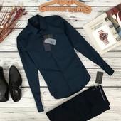 Базовая сорочка насыщенного синего цвета от Zara  BL51126