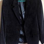 Фирменный чёрный пиджак 52-54 р. на высокий рост