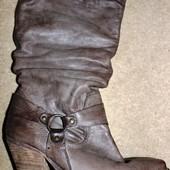 Супер шкіряні чоботи ковбойки