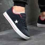 Кеды мужские Converse All Star dark blue/red