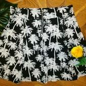 Юбка hm плотная ткань с пальмами моя укрпочта