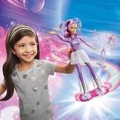Barbie кукла star light adventure lights & sounds hoverboarder