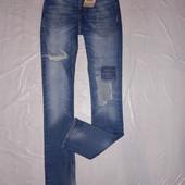 W28 L32, xs-s, поб 44-46, узкачи! рванки! джинсы скинни заплатки New Look, новые с бирками