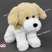 Мягкая игрушка джек рассел терьер, 23 см, собачка стоит на лапах, собака