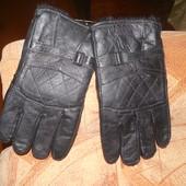 новые перчатки мужские кожаные с утеплителем из меха