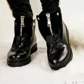 Ботинки зимние, кожаные, на меху, р. 36-40, код kikv-522