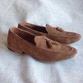 Kurt Geiger новые шикарные замшевые туфли мокасины 42-43р. Самая низкая цена