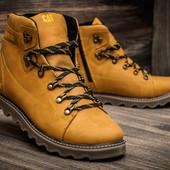 Ботинки кожаные зимние CAT Yellow Boots