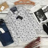 Мужская рубашка с ярким принтом от Zara  BL5393