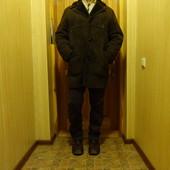 Коричневая удлиненная дубленка Vintage brown Bailys of Glastonbury sheepskin coat Англия 52 р.