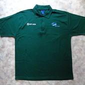 Футболка-поло зеленая 54